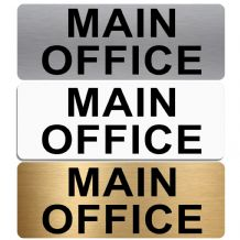 Main Office Sign-Aluminium Metal-Shop,Manager,Notice,Door,School,Business,Hospital,Entrance,Welcome